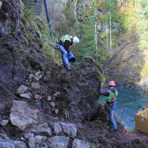 McCallum Rock Team Blasting at Lake Cushman Dam