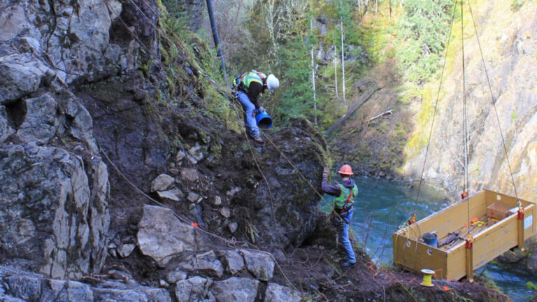 McCallum Rock Team Blasting at Lake Cushman Dam