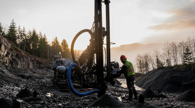 McCallum Team Drilling at Sunset