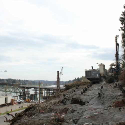 McCallum Rock Team Working on Sellwood Bride Reconstruction