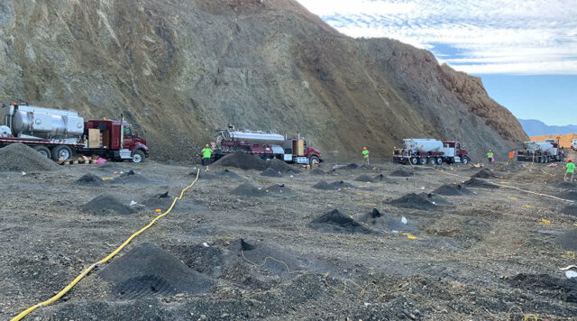 McCallum Rock Team in Quarry Preparing for Blasting